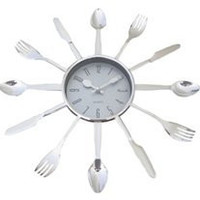 """Spoon and Fork 13"""" Decorative Wall Clock"""