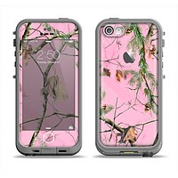The Pink Real Camouflage Apple iPhone 5c LifeProof Fre Case Skin Set