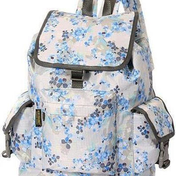 Floral Printed Nylon Backpack