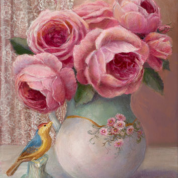 Garden Roses Susan Rios Keepsake Tea Art