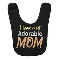 Mothers day special- Adorable Mother design Baby Bib
