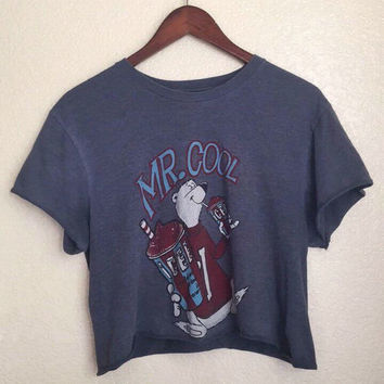 Vintage Mr. Cool ICEE cropped tee