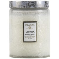 Voluspa Large Embossed Glass Candle