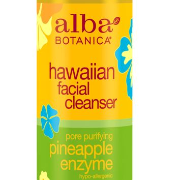 hawaiian facial cleanser pore purifying pineapple enzyme | Alba Botanica