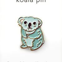 Koala Pin - Koala Enamel Pin by boygirlparty
