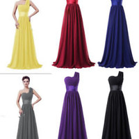One Shoulder Long Formal Occasion Dress Evening Dress