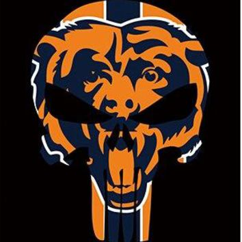Chicago Bears skull flags 90x150cm polyester digital print banner with 2 Metal Grommets 3x5ft