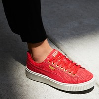 Free People Basket Platform Woven Sneaker