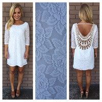 Ivory Lace Baby Got Back Dress