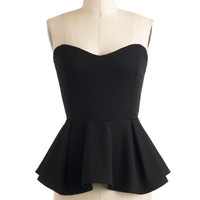 Strapless Peplum Posh for the Photo Top