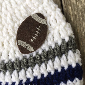 Crocheted Football Team Baby Beanie in Favorite Team Colors b0815d079