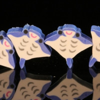 Four Mini Manta Ray Japanese Erasers