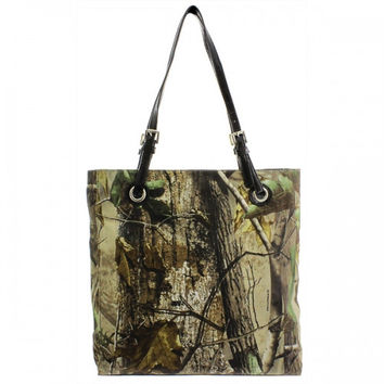 Realtree Classic Square Camo Tote Bag With Belted Straps - 500680A