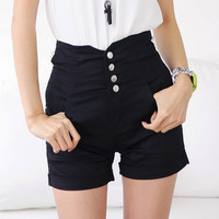 2016 Trending Fashion Women Slim High Waisted Jeans Package Hip Criss Cross Back Shorts Trousers Pants _ 8194