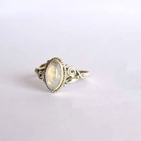 moonstone ring,moon stone silver ring, silver ring, silver rainbow ring, stone ring, 92.5 sterling silver, moon stone Silver Ring, RNSL98