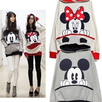 Mickey/Minnie Mouse Cute Ears Sweater