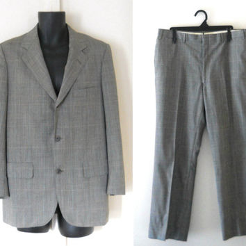 1960s Mod Suit 60s Suit Men Plaid Suit Brooks Brothers Suit Brooks Brothers Mod Blazer Men Suit Jacket Mod Clothing Men Blazer Jacket