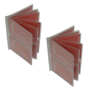 Set of 2 - Replacement Plastic Insert For Hipster Wallets, Card Or Picture Insert 2 High Stacked Up INS502 (C)