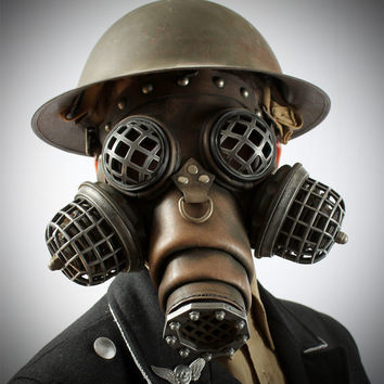 Ragnarok Gas Mask -- Steampunk Leather