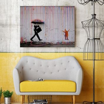 Banksy Graffiti Wall Art 1 Piece Canvas