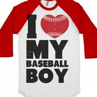 White/Red T-Shirt | Cute Baseball Girl Shirts