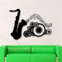 Wall Stickers Vinyl Decal Music Saxophone Musical Instrument Unique Gift (ig1749)