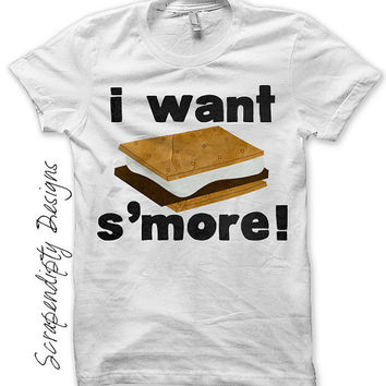 Camping Iron on Transfer - Smore Iron on Shirt PDF / Toddler Boys Tshirt / Kids Camping Shirt / Campfire Clothing / Funny Baby Clothes  IT74