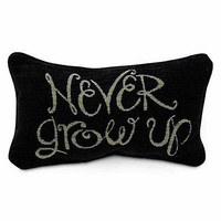 disney parks peter pan never grow up throw pillow new with tag