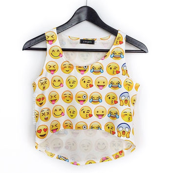 d0bf77aed9e8e EMOJI CROP TOP from Nicnic Jewelry