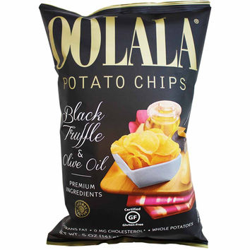 Natural Nectar Oolala Black Truffle & Olive Oil Potato Chips 5 oz. (141g)