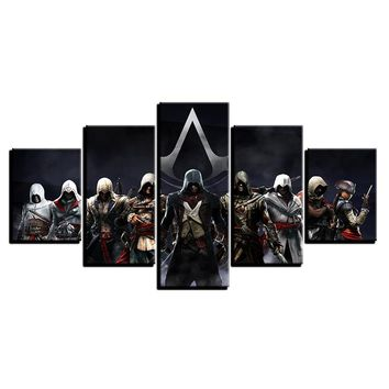 5 Pieces Assassin's Creed Movie Characters Modern Home Decor Wall Print