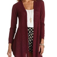 TUNIC LENGTH SLUB KNIT CARDIGAN