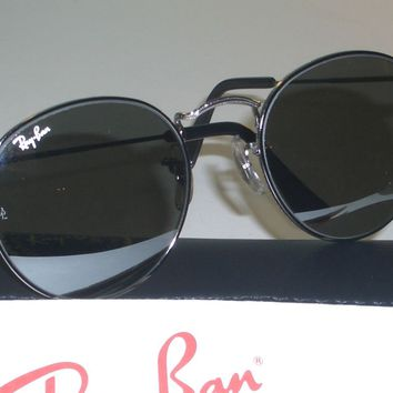 50mm B&L RAY BAN W2467 G31 MIRRORED ROUND GUNMETAL WIRE AVIATOR SUNGLASSES NEW