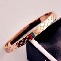 DCCKJ1A GUCCI Stylish Women Men Simple Couple Bracelet Jewelry I