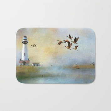 Lighthouse Bay II Bath Mat by Theresa Campbell D'August Art