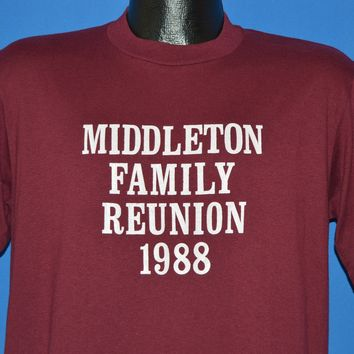 80s Middleton Family Reunion 1988 t-shirt Large