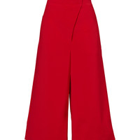 Tibi Red Belted Culottes