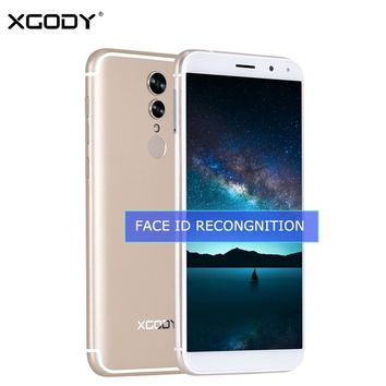 "XGODY S12 Face ID Smartphone Android 6.0 4G LTE 5.72"" 18:9 Display Fingerprint Quad Core 1GB+16GB 13.0MP Mobile Phone Cellphone"