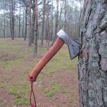 Medieval axe, viking axe, iron gift for him, tomahawk, hatchet, hiking, hunting, mens gifts, chopping axe, gifts for men, manly iron gifts