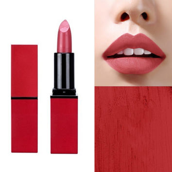 Korean Cosmetics Matte Lipstick Makeup Tint Velvet Long Lasting Waterproof Moisturizing Lipstick Batom Maquillage