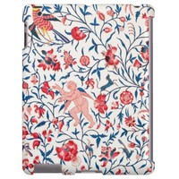 Vintage Persian Horror Vacui Floral Birds Pattern