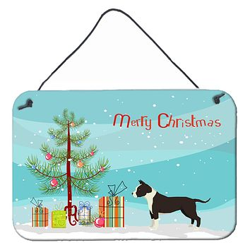 American Staffordshire Terrier Christmas Tree Wall or Door Hanging Prints CK3515DS812