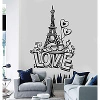Vinyl Wall Stickers Eiffel Tower Paris France Romantic Art Decal Unique Gift (173ig)