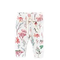 Organic Drawstring Leggings in Floral Study