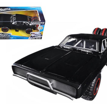 "Dom's 1970 Dodge Charger R-T Off Road Version ""Fast & Furious 7"" Movie 1-24 Diecast Model Car by Jada"
