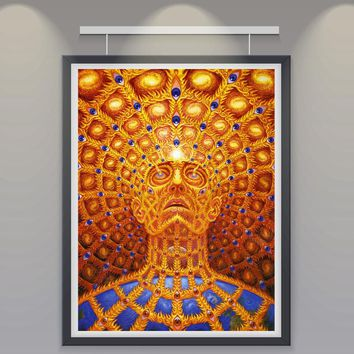 Alien Movie Psychedelic Trippy Abstract Silk Poster 13x20 inch