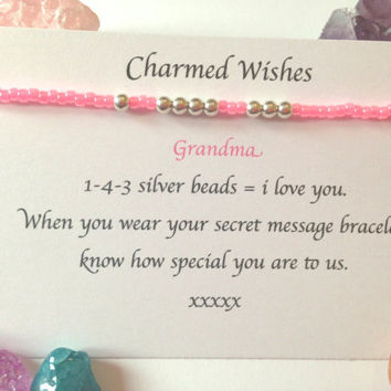 Grandma bracelet | I love you jewellery | Gift for nan | nanna gift | 143 jewellery | Presents for grandma | Personalised gran gifts