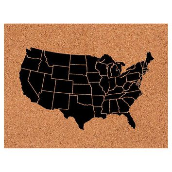 Room Essentials®™ Corkboard with Map - Black