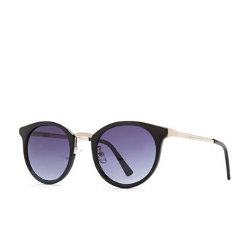 Metal Trim Oval Sunglasses