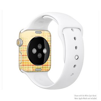 The Scratched Yellow Faded Plaid Full-Body Skin Kit for the Apple Watch